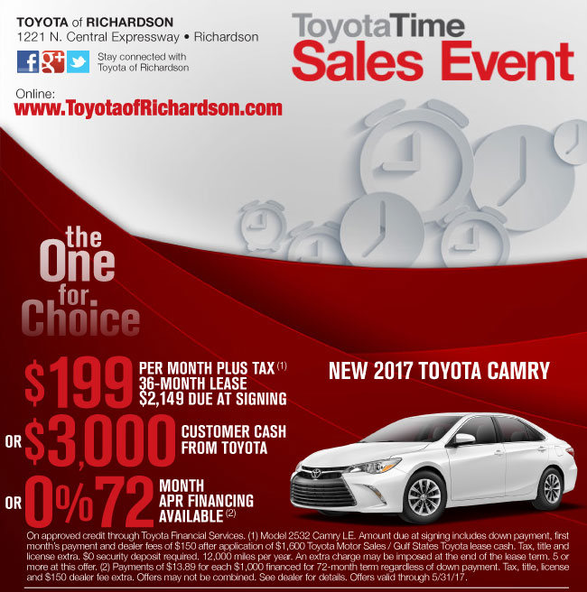 Toyota Event: Toyota Time Sales Event Richardson