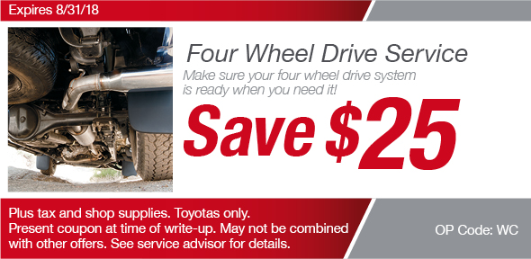 Four Wheel Drive Coupon, Richardson