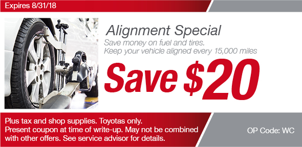Alignment Service Toyota Of Richardson Service Coupon Dallas Tx